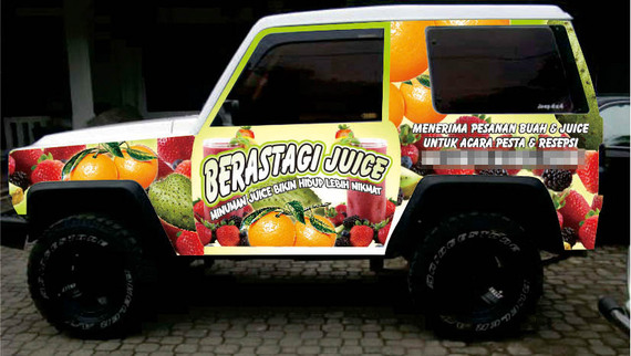 Beratagi Juice Car Branding