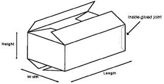 Style 1 RSC (Regular Slotted Carton)