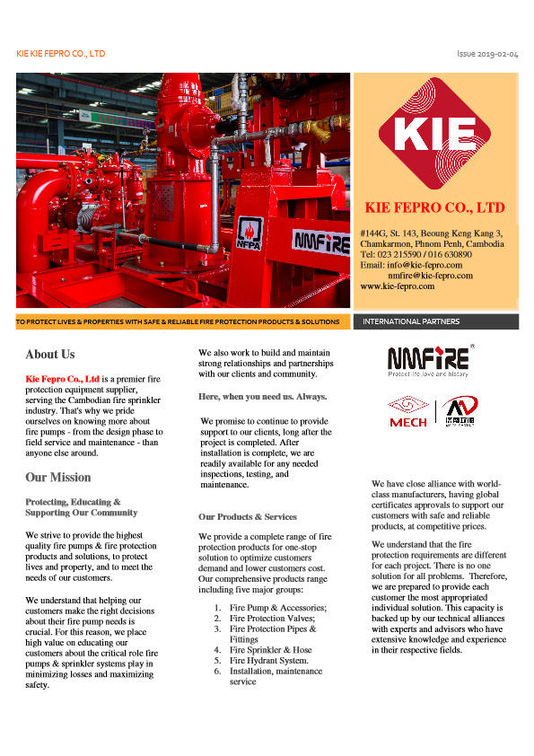 Kie Fepro - Company & Products Brocure