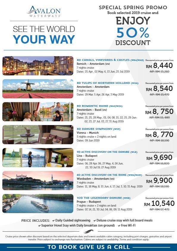 Avalon Waterways 50% Discount