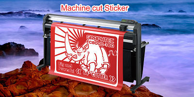 Machine cut Sticker