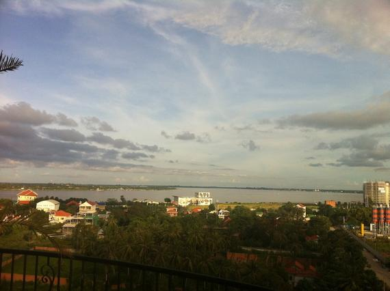 View over the Mekong and Tonlesap confluence