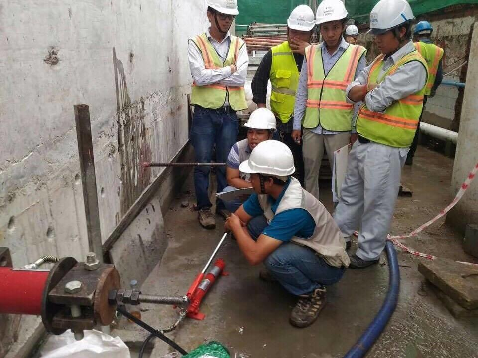 Pull out rebar test & Plate Bearing Test