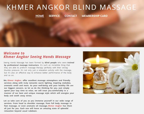 Khmer Angkor Seeing Hand Massage (By Blind People)