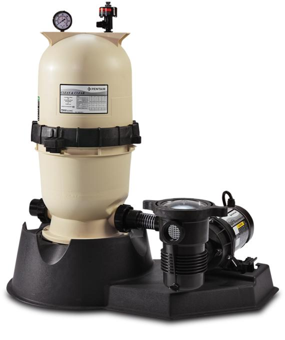 Clean and Clear Aboveground Cartridge Filter System