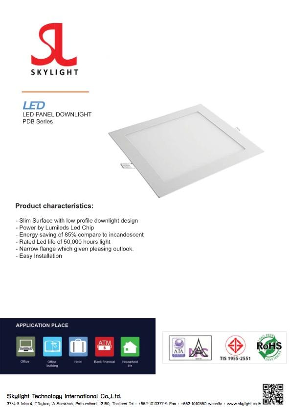 Led Lighting Product DownLight Square