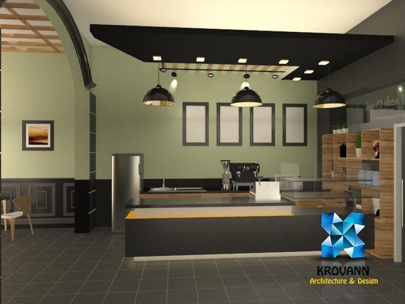 Interior design coffee krovan