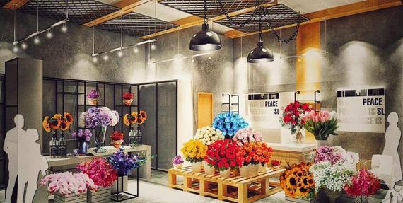 Interior design flower shop krovna