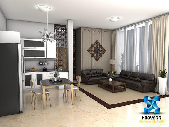 Interior design Apartment krovan