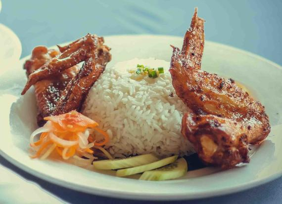 RICE WITH CHIKEN WINGS 2