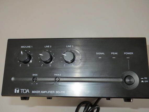 toa bg input watt audio mixer amplifier repair or parts prev stereo amplifier repair operational amplifier lm741 dual 4 ohm to 8 speaker wiring guide 741 subwoofer class a