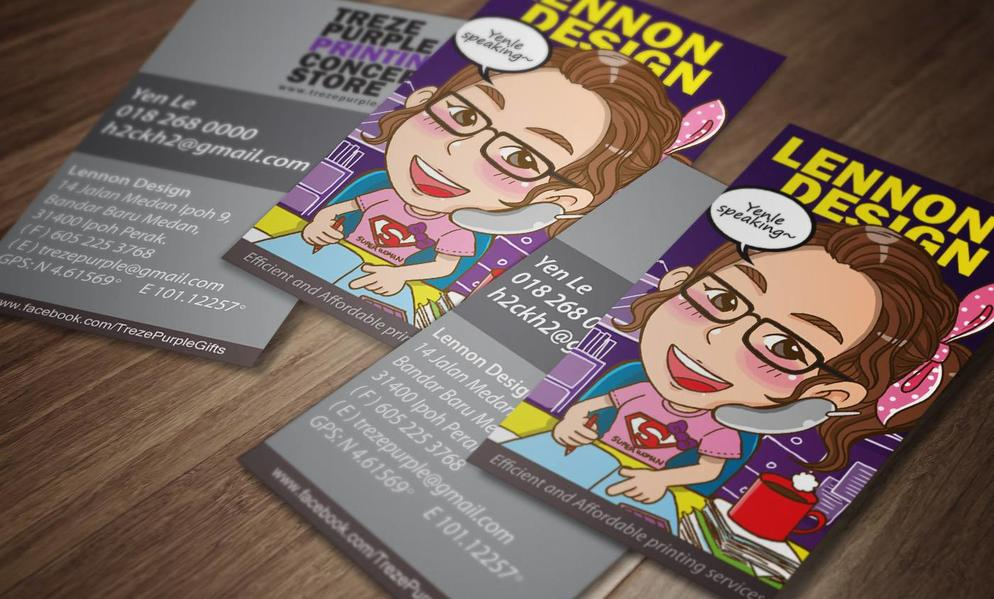 Name Card Services by Treze Purple