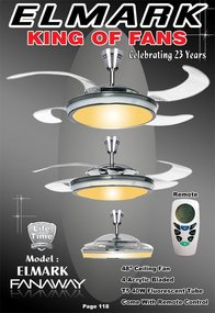 FANAWAY® Retractable Blade Ceiling Fan