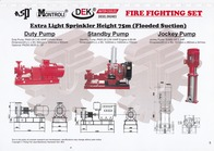 Extra Light Spinkler Height 75m (Flooded Suction)
