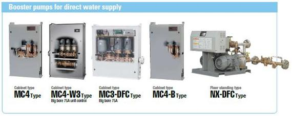 Booster pumps for direct water supply