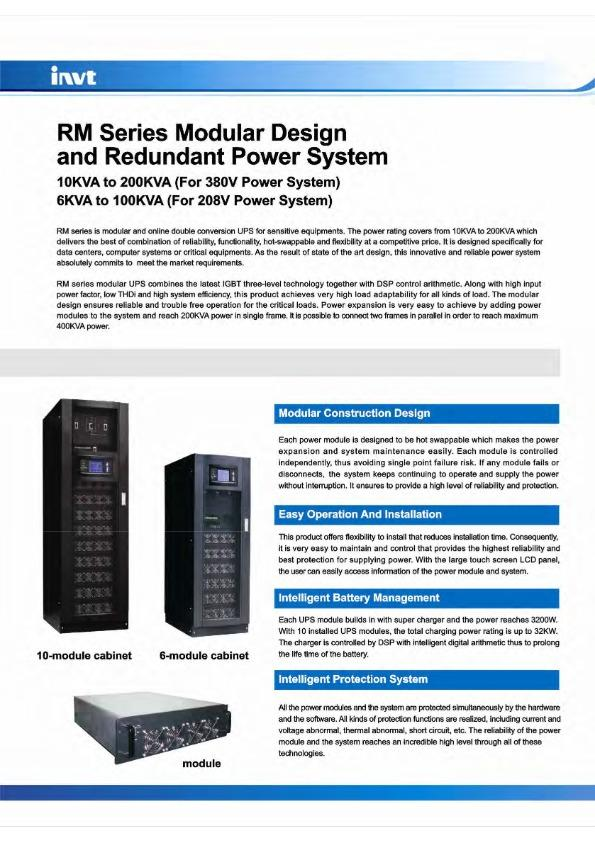 Modular UPS Power Backup System