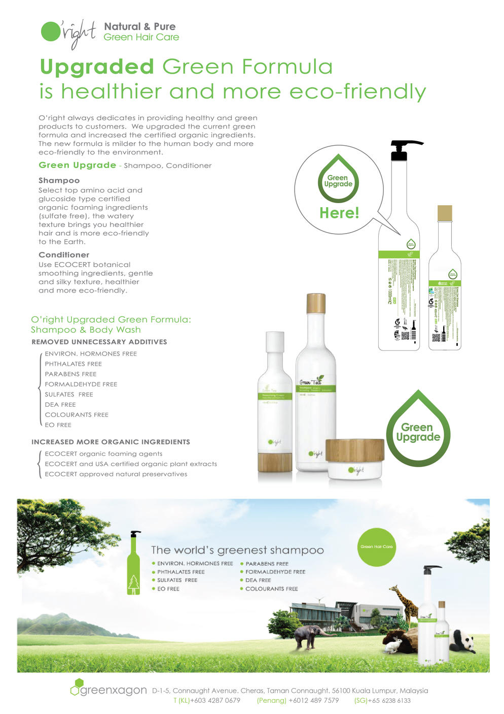 Oright Product with GREEN FORMULA