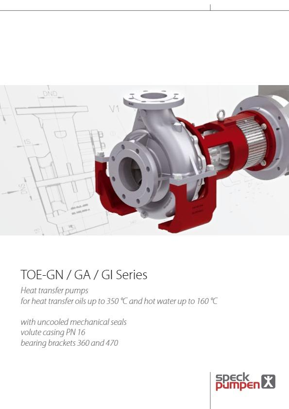 SPECK Heat Transfer Pumps TOE-GN Series