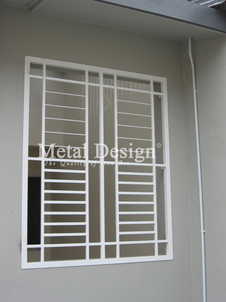 Metal design wrought iron pahang for Window design catalogue