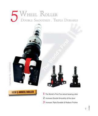5 Wheels Bearing Roller