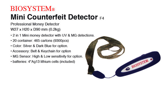 Biosystem Mini Counterfeit Detector F4