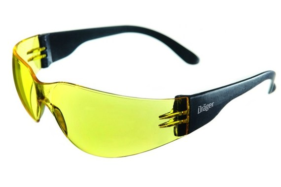 Drager X pect 8312 Safety Glasses Yellow Lens Pack of 10  XL