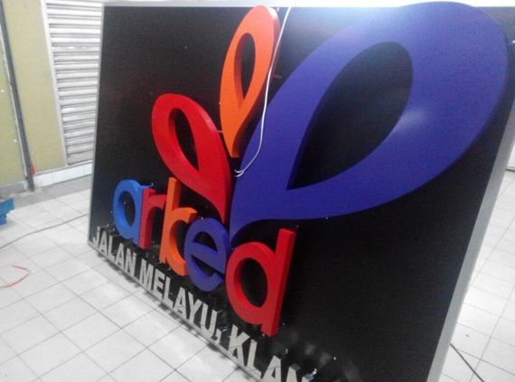 3D EG Backlit LED sign