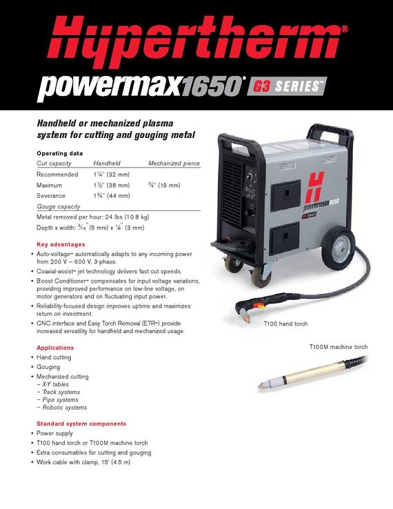 Hypertherm PowerMax 1650
