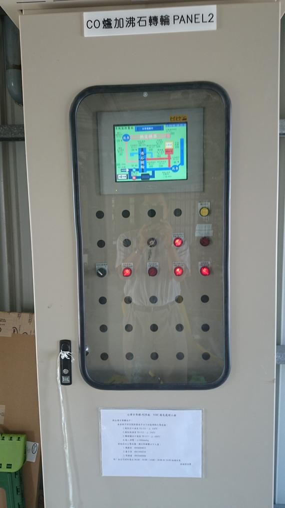 VOC treatment control panel
