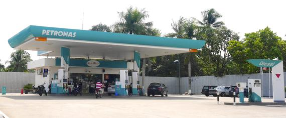 Petronas Station is just nearby