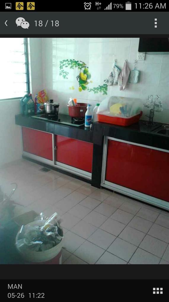 Aluminium cabinet (after to install)