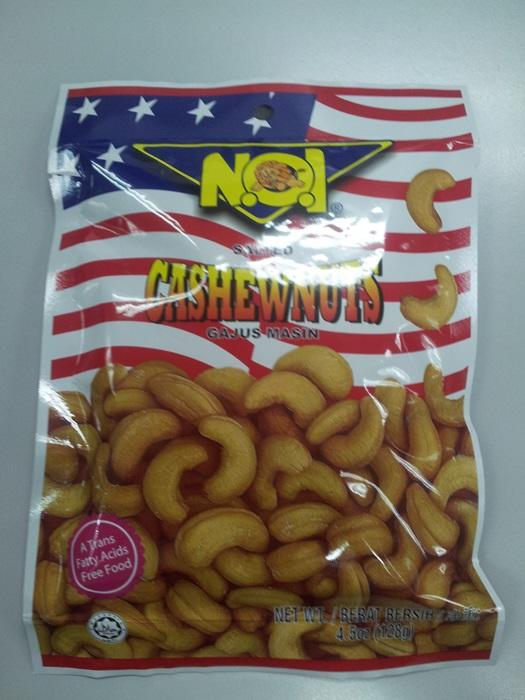 No1 Salted Cashewnuts 128g