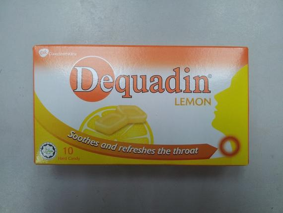 Dequadin Hard Candy 38g lemon