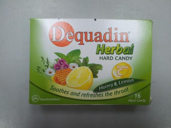 Dequadin Herbal Candy 56g Honey Lemon