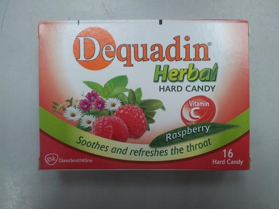 Dequadin Herbal Candy 56g Raspberry