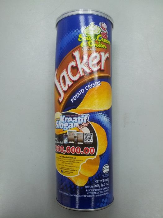 Jacker 160g Sour Cream Onion