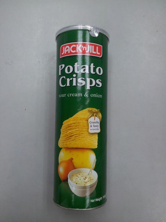 J J Potato Crisps 160g SC Onion