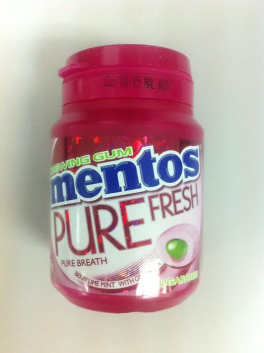 Mentos Bottle 52g Berrylime Mint