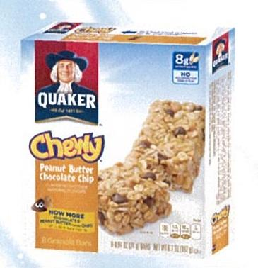 Quaker Cereal Bar Peanut Butter Chocolate Chip 8x24g