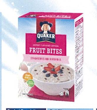 Quaker Instant Oatmeal Strawberry Blueberry 6x30g