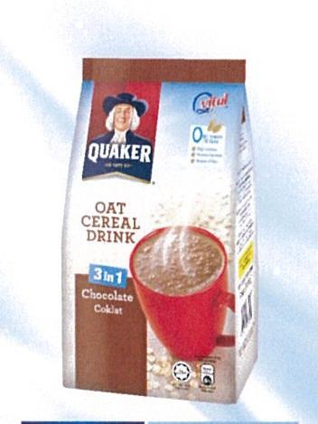 Quaker Oat Cereal Drink Choc 8sx28g