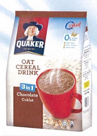 Quaker Oat Cereal Drink Choc 17sx28g