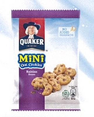 Quaker Mini Oat Cookies Raisin 28g