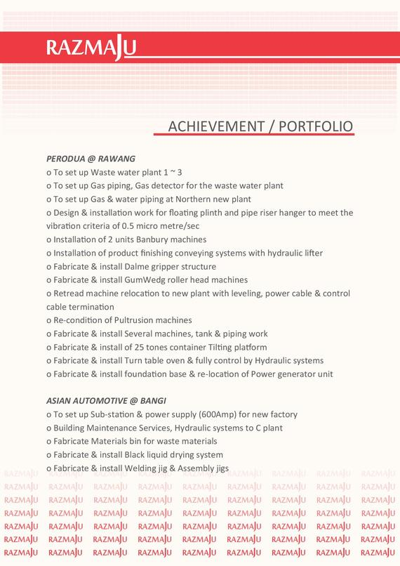 Achievement  & Portfolio