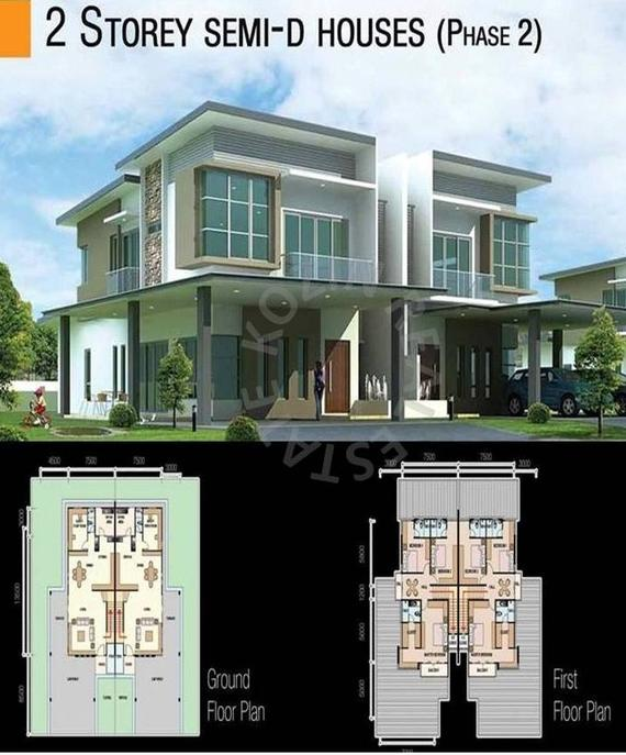 Double Storey Terrace Semi-D - Floor Plan