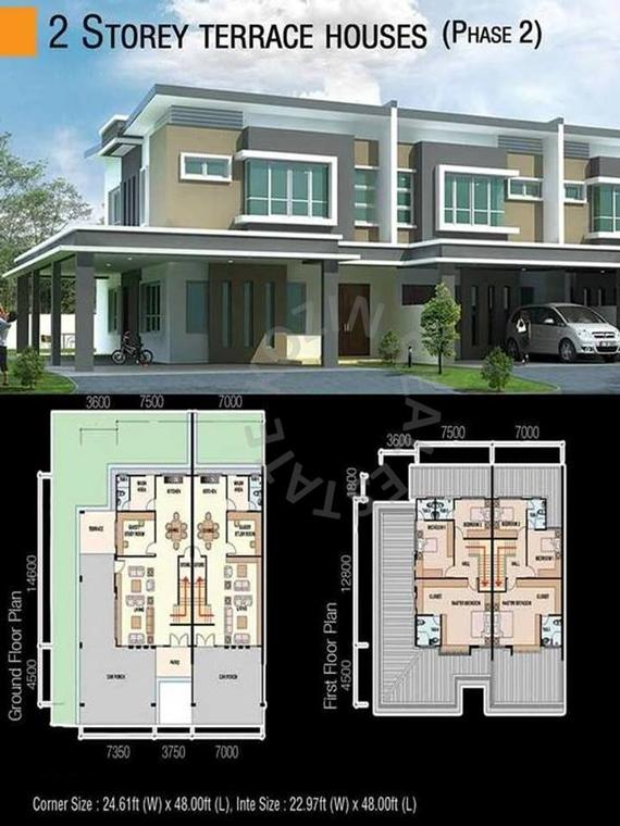 Double-Storey Terrace - Floor Plan