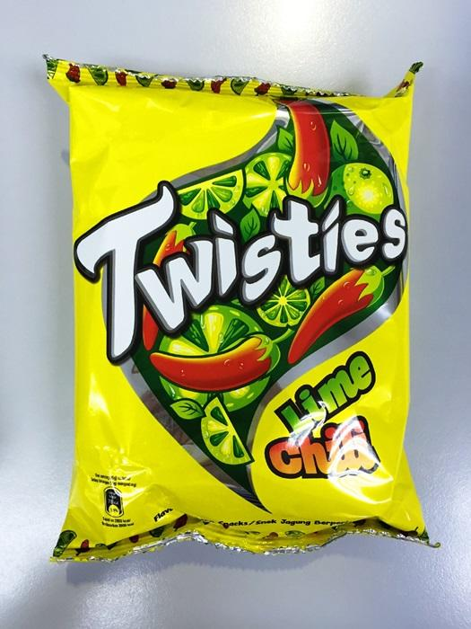 TWISTIES (B) LIME CHILI 65G
