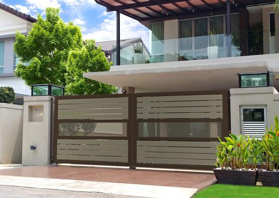Fully Aluminium Swing Gate