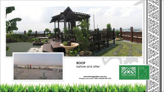 Malaysian Garden Corporate Roof by Terra Garden