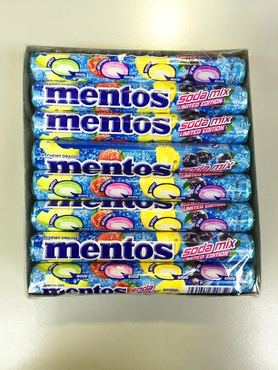 MENTOS ROLLS SODA MIX(LIMITED EDITION)